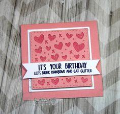Your Next Stamp:  Mini Heart Panel Die, Whatnots Sentiment Set Eleven  #yournextstamp
