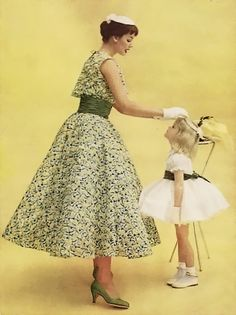 ~50s spring fashion for Mother & Daughter~