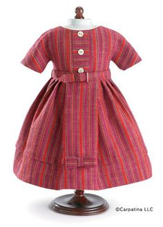 Vintage Afternoon Wool Doll Dress Fits 18″ American « Game Time Home