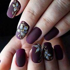 # Purple Flowers Nails