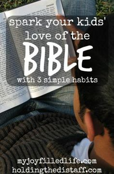 Spark Your Kids' Love of the Bible with 3 Simple Habits: get children excited about God's work when a lot is competing for their attention. (scheduled via http://www.tailwindapp.com?utm_source=pinterest&utm_medium=twpin&utm_content=post99908427&utm_campaign=scheduler_attribution)