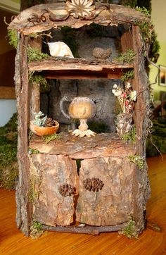 Faerie Hutch from The Faerie Tailor's Furniture Catalogue {love the little alder cone cabinet door knobs!}