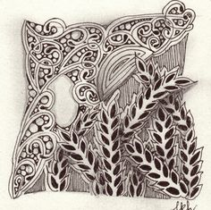 I am the diva - Certified Zentangle Teacher (CZT®) - love the wheat