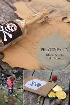Pirate party: ideas for pirate birthday decoration, pirate birthday games, pirate party decoration and a great pirate party location. There is also a manual on how to make a treasure map and ideas for an exciting treasure hunt. Pirate Birthday, Birthday Games, Diy Birthday, Birthday Parties, Pirate Party Decorations, Birthday Decorations, Decor Logo, Cute Home Decor, Thanksgiving Gifts