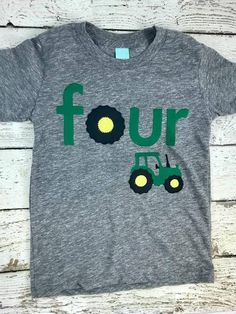 Tractor Shirt Birthday Party Decor Fall 8th