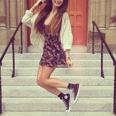 I would hardly wear a dress... But when it's with converse I wouldn't hesitate to give it a go!