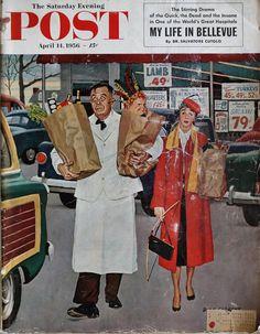 Vintage Ads, Vintage Images, Vintage Soul, Vintage Labels, Vintage Magazines, Norman Rockwell Art, Illustrations Vintage, Vintage Housewife, 50s Housewife