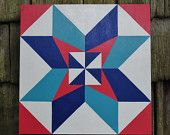 County Fair 2' x 2' Barn Quilt Square hand painted on wood