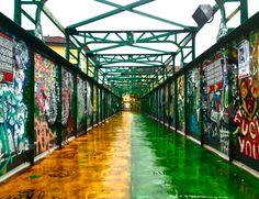 Bridge, Porta Genova District, Milan, Italy