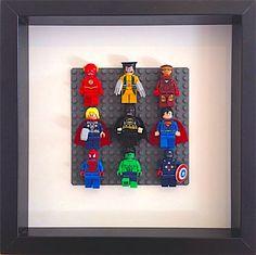 LEGO Super Heroes encadrées Wall Art figurines Flash par Brickzilla