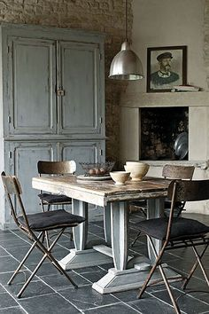 Rustic French - Dining Room Ideas, Furniture & Designs - Decorating Ideas (EasyLiving.co.uk)