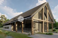 Moderne schuurwoning Veenendaal | The Citadel Company Future House, Villa, Cabin, Contemporary, House Styles, Architecture, Outdoor Decor, Interior, Home Decor