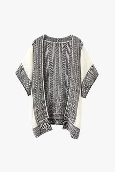 White & Black Soft Knitted Cardigan