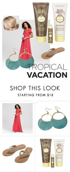 """""""don't forget the sunblock"""" by oceans-and-highheels ❤ liked on Polyvore featuring Vanity Room, M&Co and Sun Bum"""