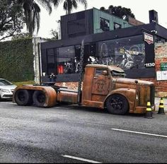 pictures of rat rod trucks Mack Trucks, Big Rig Trucks, Hot Rod Trucks, Cool Trucks, Chevy Trucks, Pickup Trucks, Cool Cars, Mudding Trucks, Dually Trucks
