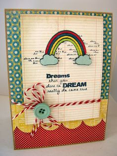 {dreams that you DARE} stamp of the week from unity stamp company - card created by unity stamp company design team member stephanie muzzlin