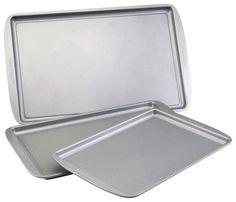 Farberware - 3-Piece Cookie Pan Set - Gray, 52019