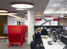 Virgin Money HQ office design by Spacelab office