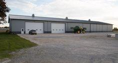 Morton Buildings farm storage building in Louisville, Ohio.
