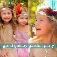 Great Gatsby Garden Party. Even though this picture is of kids, I would like to have my own Great Gatsby themed party!