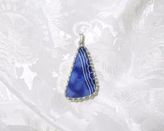 Broken China Jewelry Pendant Flow Blue by TreasuresAnew on Etsy