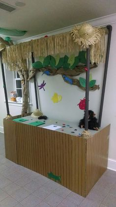 Our registration needs to look like this....  :-)  VBS Jungle Safari Registration Hut