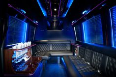 The interior of our Mercedes Luxury Sprinter limo