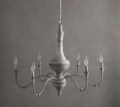 This graceful iron chandelier has a zinc finish that gives its classic French silhouette an updated look. Beautiful turnings on the post and curving arms add to its rustic appeal. Part of our Brookings Collection, it mixes well with your exi… Farmhouse Dining Room Lighting, Farmhouse Chandelier, Elegant Dining Room, Farmhouse Bedroom Decor, Dining Room Design, French Country Chandelier, Dinning Table, Dining Rooms, Kitchen Chandelier