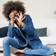 Jeans slim stretch, cintura normal, comprimento 32 cm R essentiel at La Redoute Catalogue, Slim, Couture, Collection, Style, Passion, Woman, Fall 2016, Fall Winter