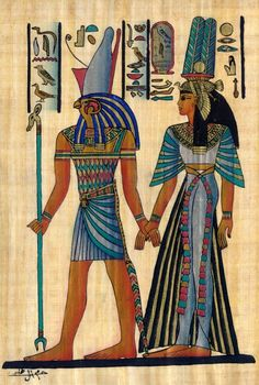 Queen Nefertari Led By Horus To Eternity 😍😍😍 Papyrus Art