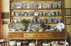 Love Carol Glasser's Welsh Dresser. This is how you display your dish collection folks!