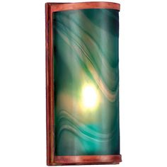 5.5 Inch W Cylinder Mente Swirl Fused Glass Wall Sconce. 5.5 Inch W Cylinder Mente Swirl Fused Glass Wall Sconce Theme:  DECO ART GLASS CONTEMPORARY Product Family:  Cylinder Mente Swirl Product Type:  WALL SCONCES Product Application:  WALL SCONCE Color:  MENTE SWIRL(GREEN) Bulb Type: MED Bulb Quantity:  1 Bulb Wattage:  60 Product Dimensions:  12H x 5.5W x 3.5DPackage Dimensions:  NABoxed Weight:   lbsDim Weight:  24 lbsOversized Shipping Reference:  NAIMPORTANT NOTE:  Every Meyda Tiffany…