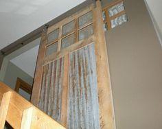 Another barn tin idea, love the door