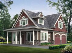 Craftsman House Plan with 1295 Square Feet and 2 Bedrooms from Dream Home Source | House Plan Code DHSW52594