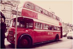 I love old buses - what a great way of getting your guests around on the big day!