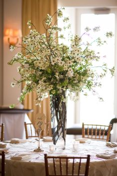 Tall White Freesia Reception Arrangement | photography by http://www.cbaileyphotography.com/