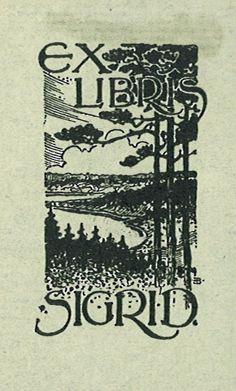 [Ex libris Sigrid] by Stifts- och landsbiblioteket i Skara, via Flickr