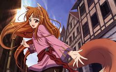 spice and wolf holo girl fox tail anime girl fantasy living room home modern art decor wood frame poster Anime Wolf, Holo Wallpapers, Hd Widescreen Wallpapers, Cartoon Wallpaper Hd, Girl Wallpaper, Neko, Spice And Wolf Holo, Panini Comics, Wolf Character