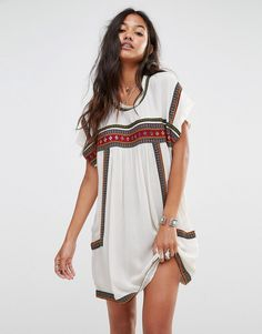 Image 1 of Glamorous Smock Dress With Festival Trim