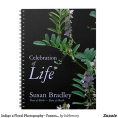 Indigo 2 Floral Photography - Funeral Guest Book Notebooks