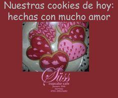 Cookies corazón con distintos diseños para regalar y regalarse