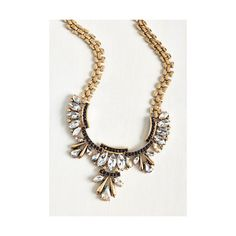Statement Glitz On! Necklace featuring polyvore, fashion, jewelry, necklaces, accessories, gold, rhinestone necklace, iridescent jewelry, kohl jewelry, rhinestone statement necklace and black rhinestone jewelry