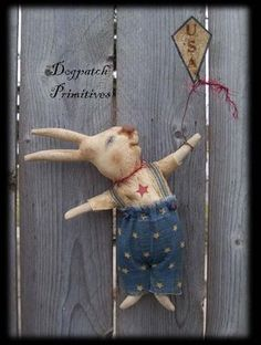 Dogpatch Primitives: Go Fly a Kite White Cupboard Bunnies
