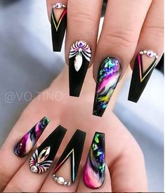 40 Pretty Nail Art Designs for Summers 2019 - Beautiful nails Best Acrylic Nails, Acrylic Nail Art, Dope Nails, Bling Nails, Nail Swag, Stylish Nails, Trendy Nails, Nagellack Design, Nagel Bling