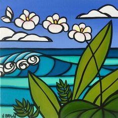 The Surf Art of Heather Brown Heather Brown Art, Hawaiian Art, Surfboard Art, Writing Art, Hippie Art, Surf Art, Seascape Paintings, Rock Art, Collage Art