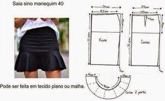 Moda e Dicas de Costura: SAIA SINO: