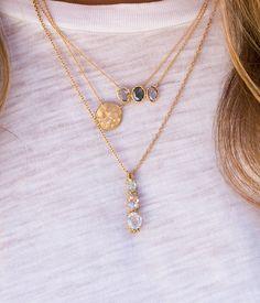 18k Diamond Cluster Disk Necklace - Audry Rose