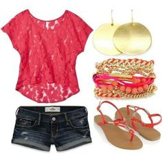 My typical Summer outfit <3  I miss Summer SO much!!!