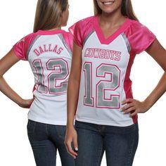 Dallas Cowboys Women's Fan Fashion Jersey - Pink
