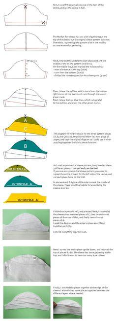 Sleeve style layered folds